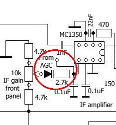 New version of AGC coupling to MC1350 IF amplifier