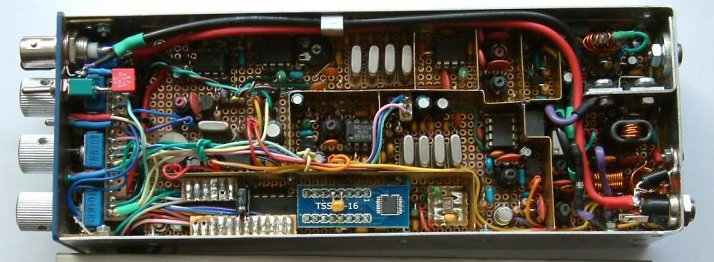 RF unit of a compact handheld SSB QRP transceiver for 14 MHz (20 meter band) by Peter Rachow (DK7IH)
