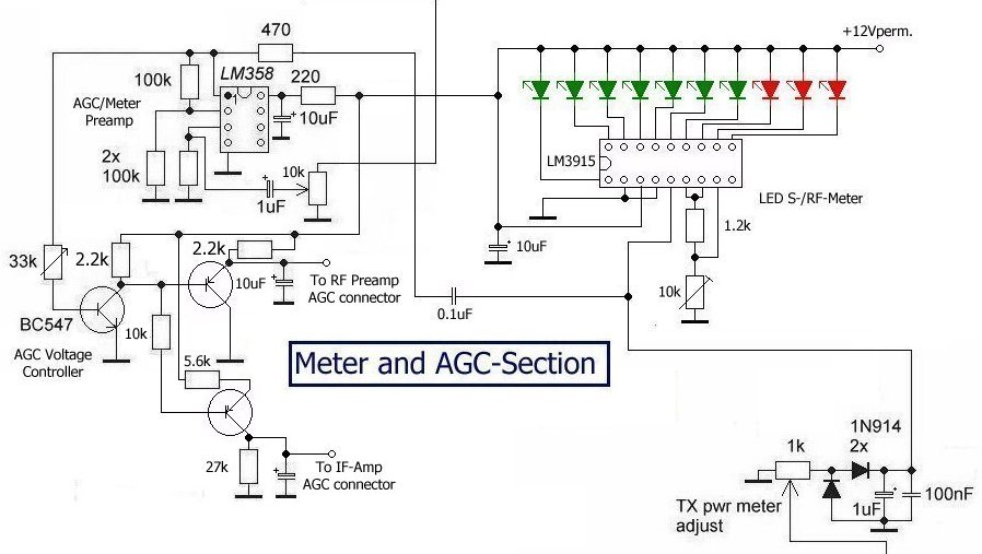 Revised version of AGC circuit for QRP SSB Transceiver