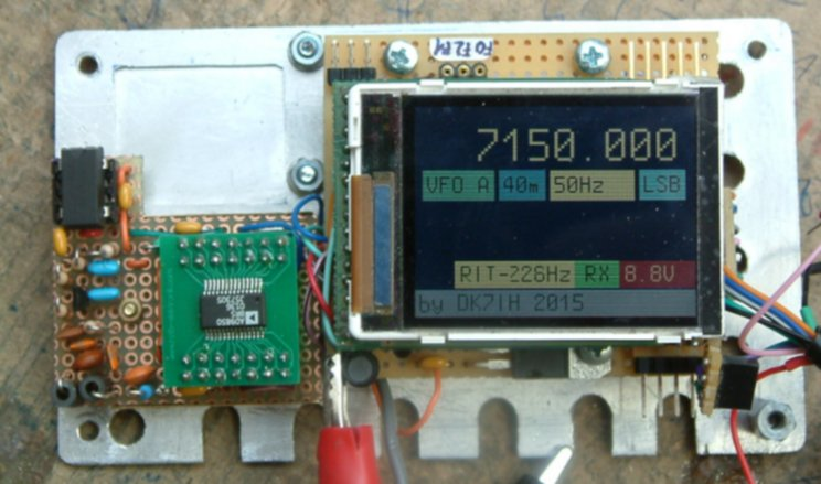 DDS VFO + colored LCD (by DK7IH)