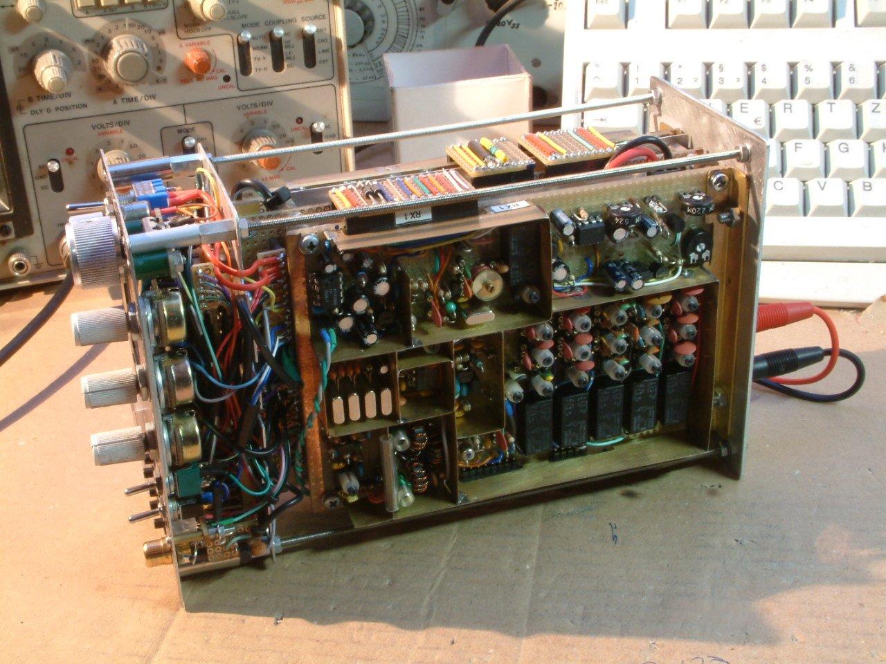 Receiver board of 5 band 10 watts QRP SSB transceiver ( (C) 2016 Peter Rachow - DK7IH)