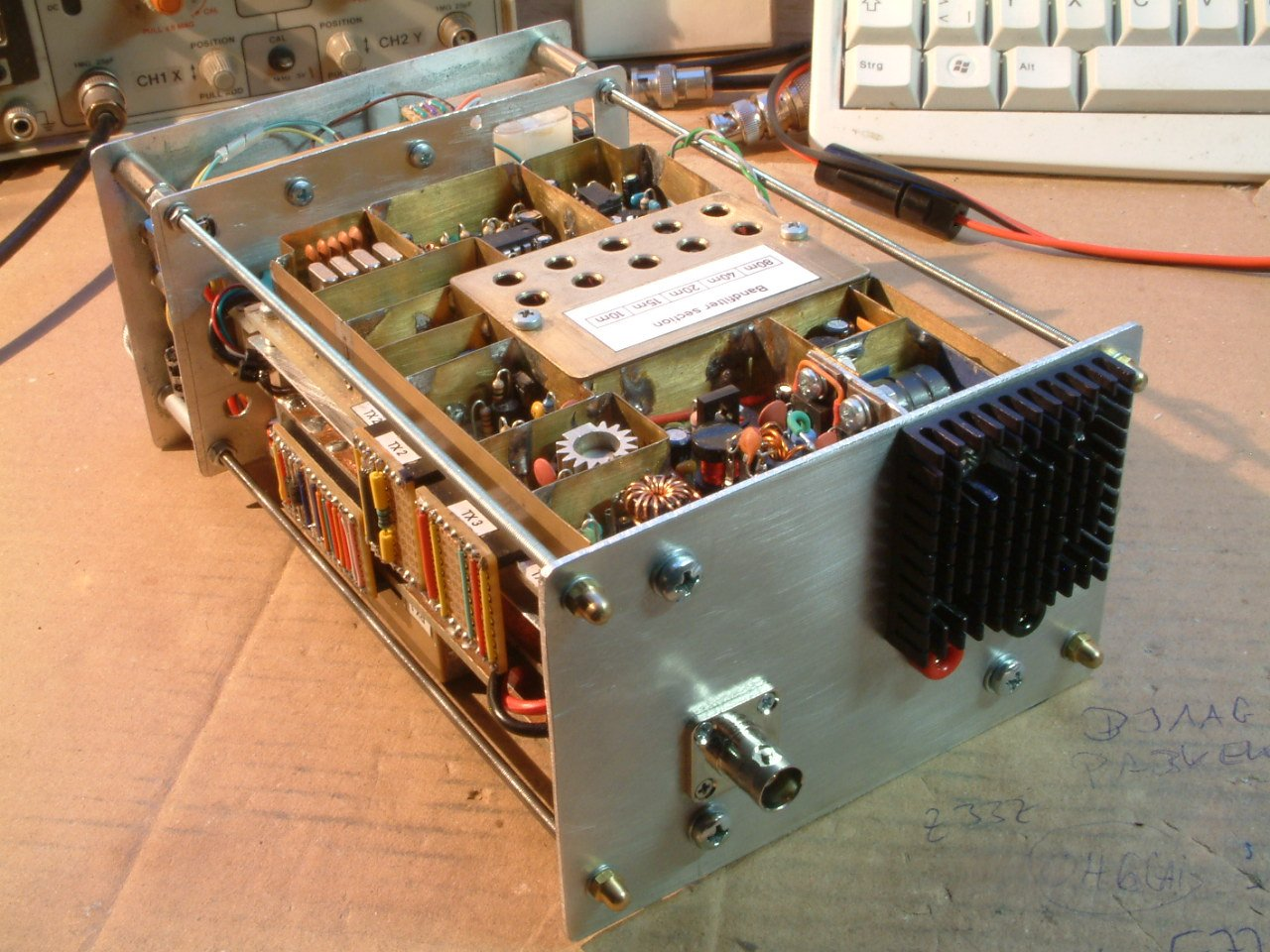 Rear view of 5 band 10 watts QRP SSB transceiver ( (C) 2016 Peter Rachow - DK7IH)qrp-ssb-trx-by-dk7ih-peter-rachow-004