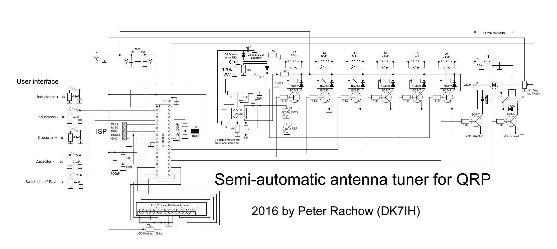 Semi-automatic antenna tuner V2 (C) DK7IH
