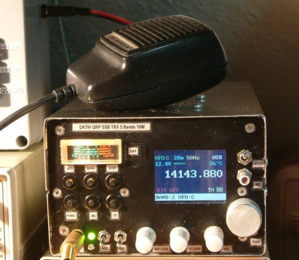 5 band multi band QRP SSB transceiver - 10 Watts output (C) Peter Rachow (DK7IH)