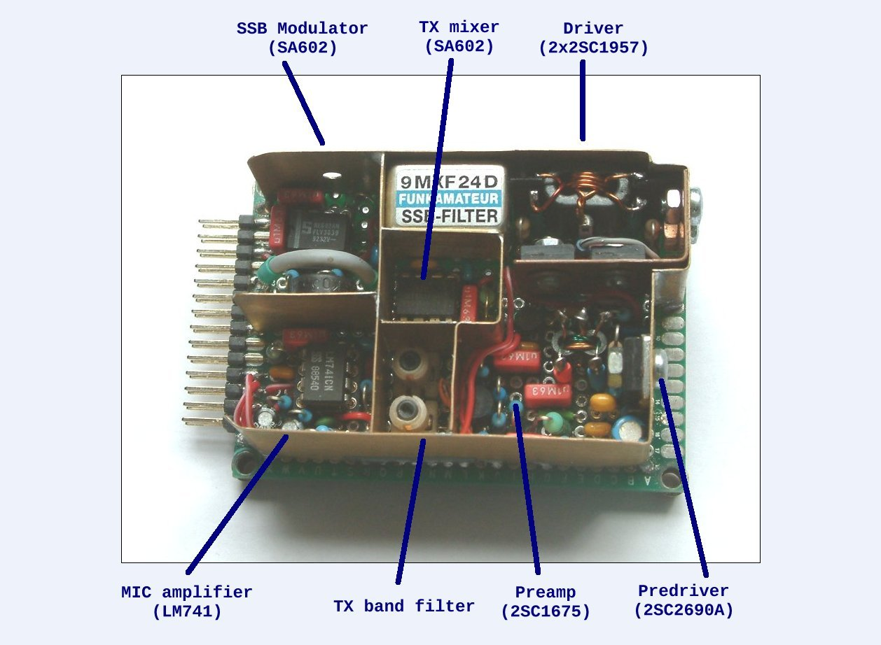 Transmitter board for 40 meter QRO transceiver (by DK7IH)
