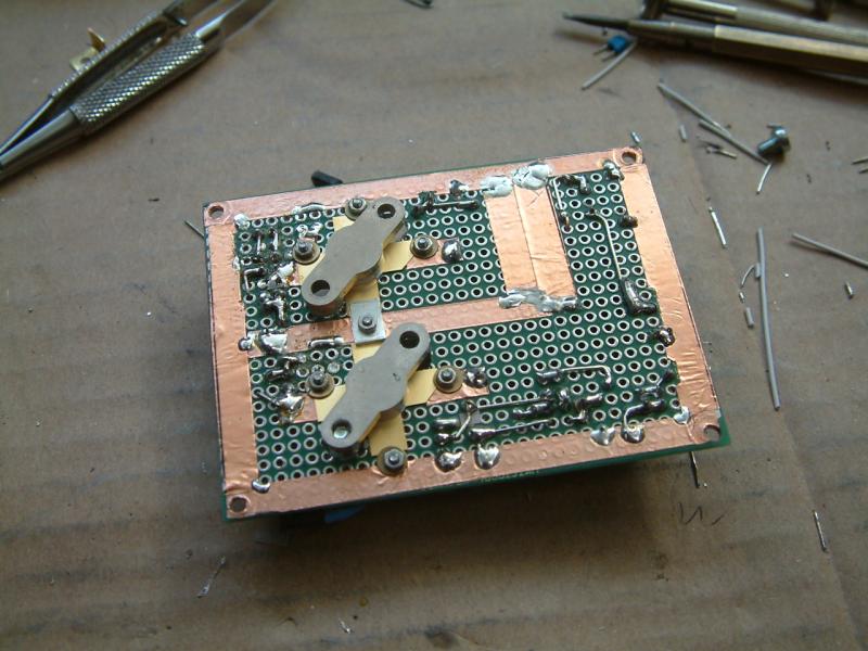 DK7IH QRO SSB transceiver for 7MHz/40m - Power amplifier underside