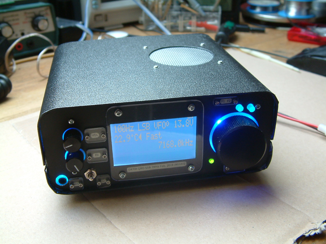 DK7IH QRO SSB transceiver for 7MHz/40m