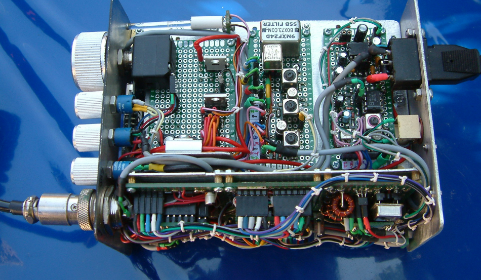DK7IH - High performance SSB 14MHz 20meters Transceiver - Receiver and switchboard modules