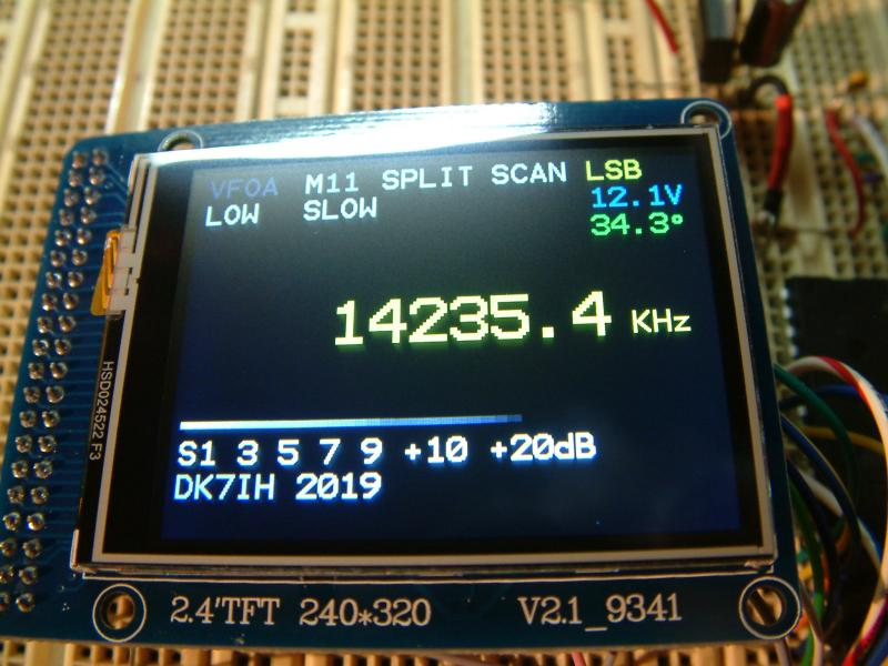 ILI9341 LCD TFT display - 8bit parallel bus mode
