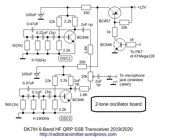DK7IH 6 band QRP SSB TRX 2019 - Dual-Tone Generator