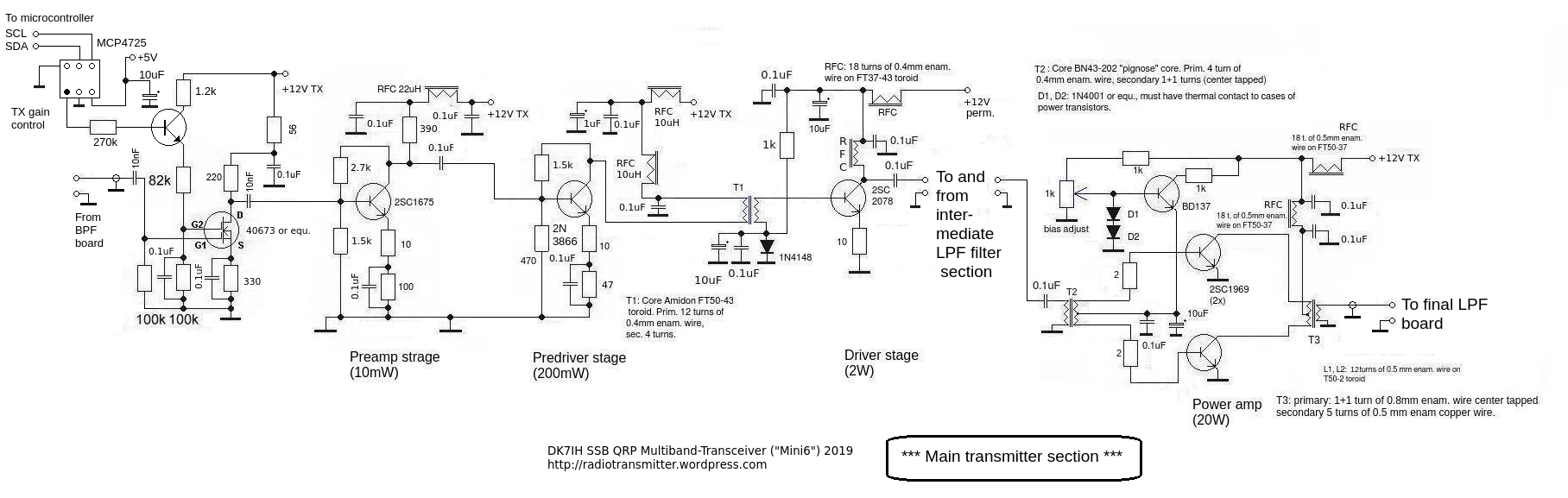 DK7IH 6 band QRP SSB TRX 2019 - Power transmitter