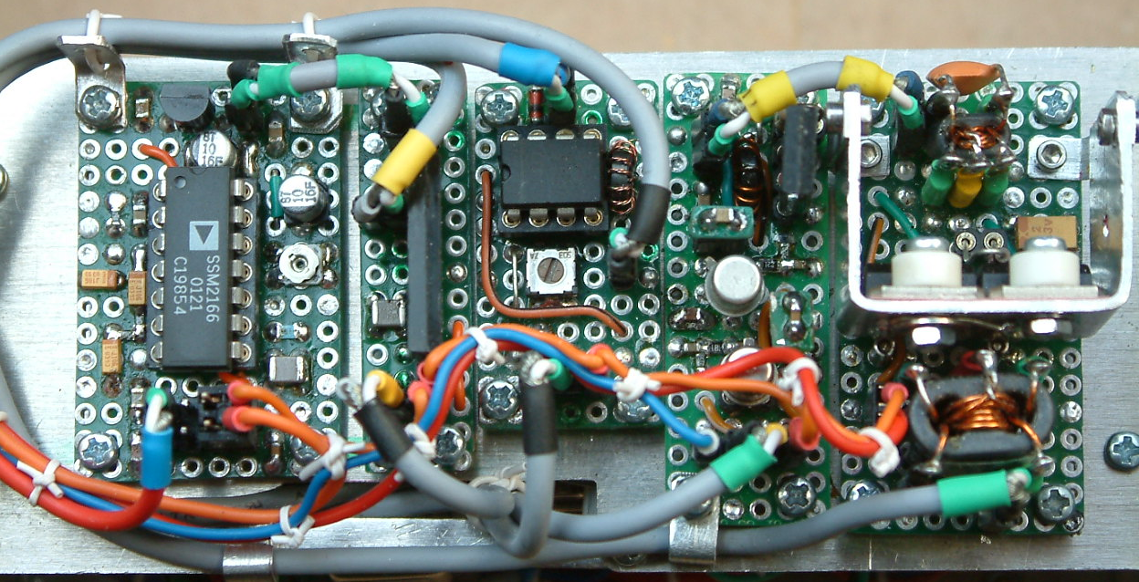 DK7IH Multiband QRP Transceiver for 5 Bands 2020 - Transmitter section (close-up)