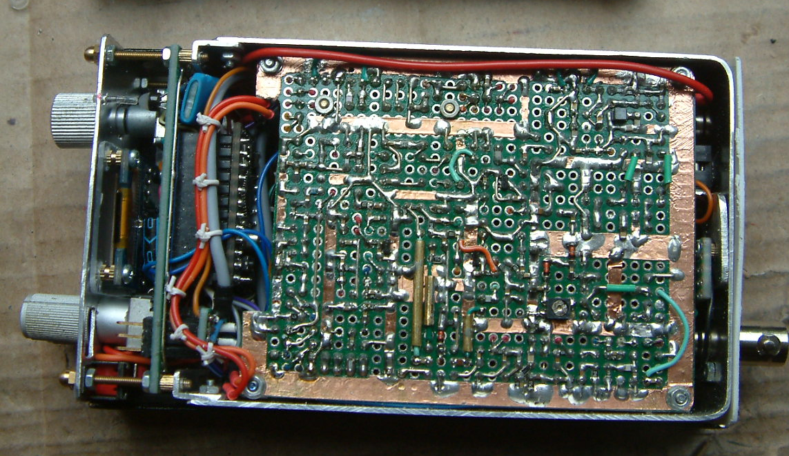 "DK7IH 1st ""Shirt pocket transceiver"" Rev. 1 - Inside view rear side"