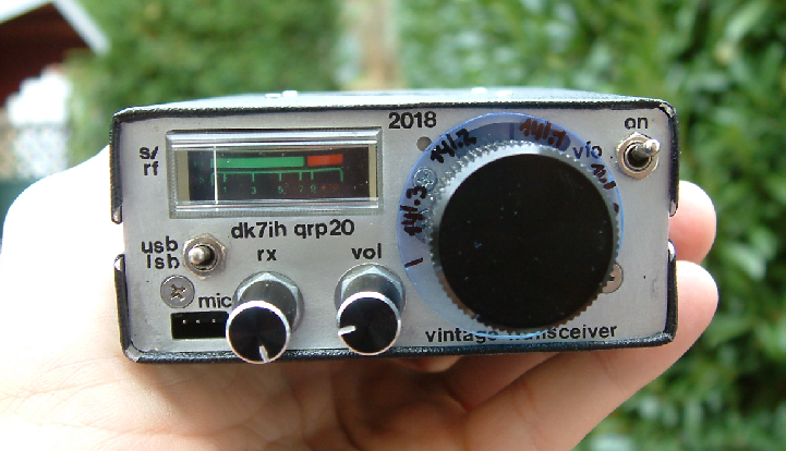 "Front panel view of ""Lean Design Transceiver"" Ver. 2 by DK7IH"
