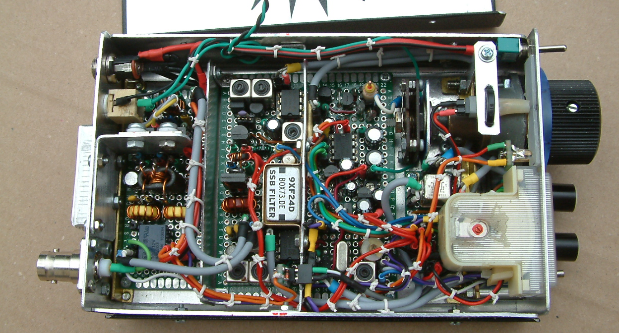 "Interior view of ""Lean Design Transceiver"" Ver. 2 by DK7IH"